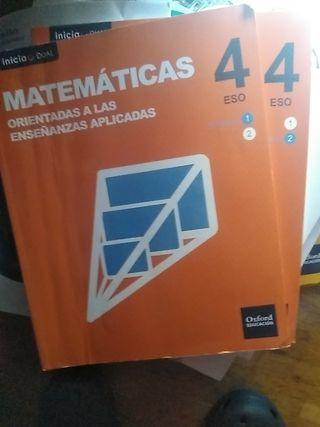libros de matemáticas 4 ESO