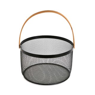 Frutero-cesta color negro