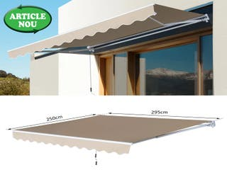 TOLDO PLEGABLE COLOR CREMA 295 CM