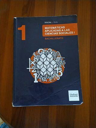 Libro 1 bachiller matemáticas,edit.oxford