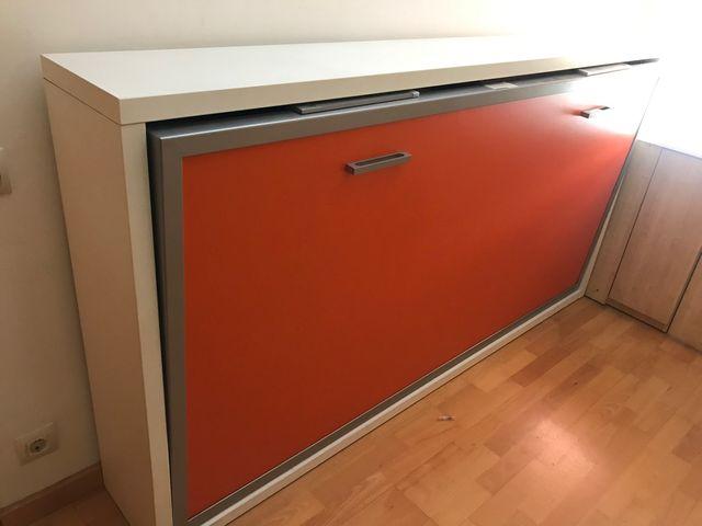 Cama abatible horizontal plegable de pared 90x190
