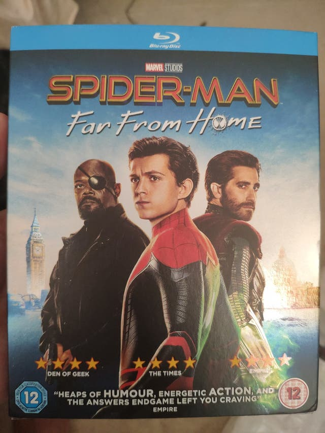 New Spider-Man far from home Blue ray disc