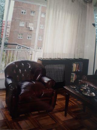Sofa+butaca chester de cuero