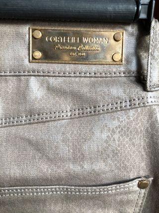 Falda gris Cortefiel