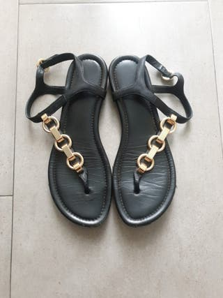 sandalias negras michael kors talla 37