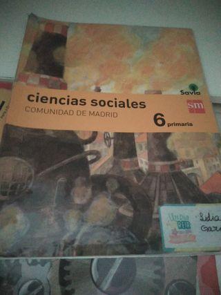 libro sociales 6 primaria SM. Buen estado.