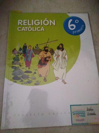 libro religión 6 primaria