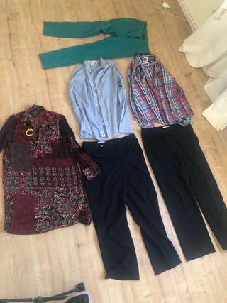 Lote de ropa marca zara y punto roma