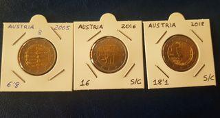 2 euros conmemorativos Austria