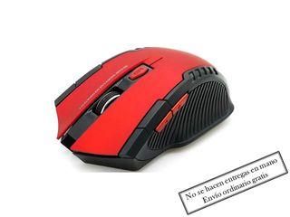Ratón Inalámbrico USB Nuevo Rojo