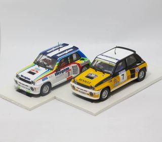 Lote 2 x Renault 5 Turbo Hergóm+oficial Scalextric