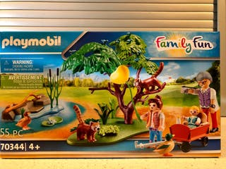 PLAYMOBIL SET ABUELO CON NIETOS EN ZOO 70344