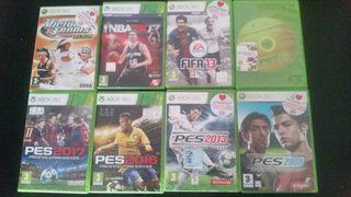Pack juegos deportes xbox 360