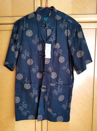 Camisa de Hombre Seda China