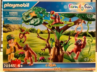 PLAYMOBIL SET GORILAS DEL ZOO 70345