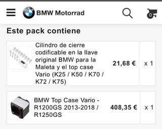 Maleta (top case)BMW R 1200 GS A estrenar