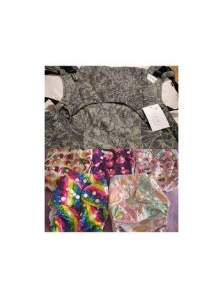 pack mochila fidella nueva y pañales de tela