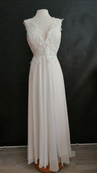 Vestido novia civil talla grande
