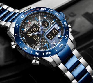 Reloj NAVIFORCE novedad plata/azul