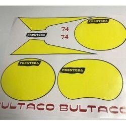 Juego de pegatinas Bultaco Frontera 74