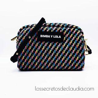 NUEVO bolso trenzado BIMBA Y LOLA multicolor
