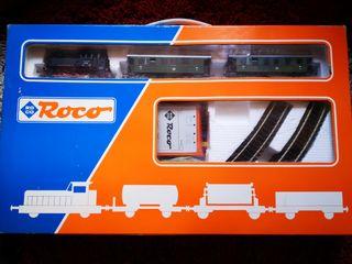 locomotora diesel Roco con generador de humo