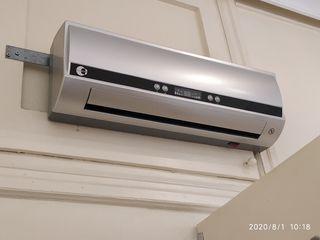 ventilador y calefactor de pared Equation
