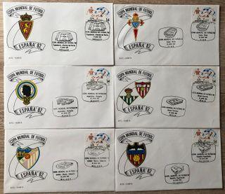 Sobres primer dia Mundial Futbol España 82