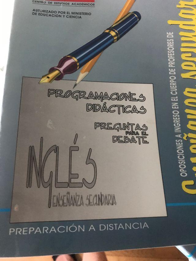 Temario Oposición ProfeInglés Secundaria , 10 vol.