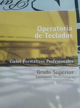 Libro operatoria de teclados. Curso Mecanografía