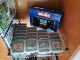 Lote Sega Game Gear + 20 juegos