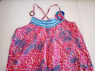 vestido tirantes fucsia IKKS niña, talla 12
