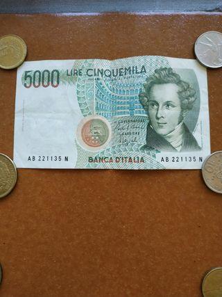 billete 5.000 lira Italia