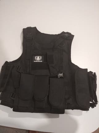 CHALECO AIRSOFT NEGRO