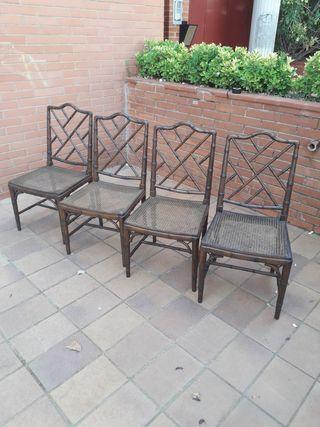 conjunto 4 sillas años 60 chippendale sin usar