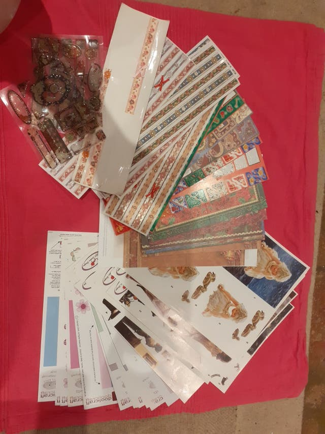 Selection of stickers and decoupage