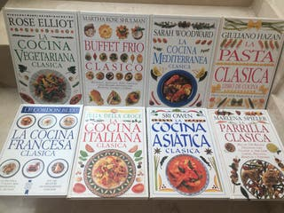 PACK LIBROS de RECETAS de cocina diferentes tipos
