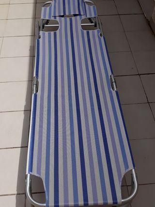 Tumbona plegable y reclinable
