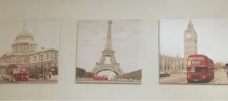 3 cuadros vintage 50x50