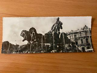 Postal panorámica 'Fuente de la Cibeles - Madrid'