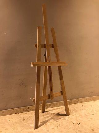 Caballete madera cuadros