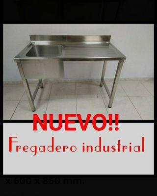 ES NUEVO! Fregadero industrial acero inox.