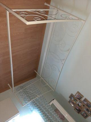 cama estructura de hierro blanca