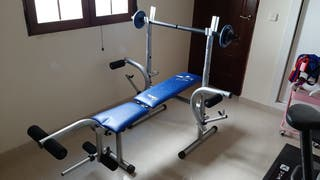 Banco pesas musculación