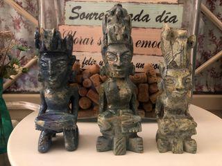 Impresionantes figuras Maya de Jade