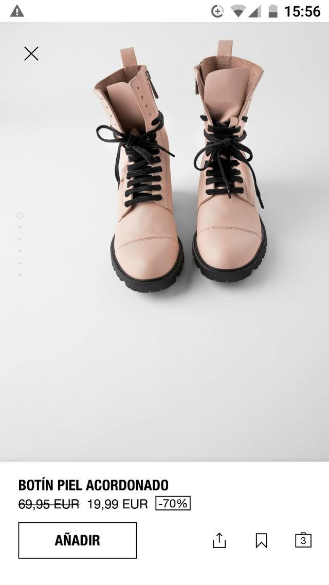 Botines en piel, n°38, de Zara sin estrenar