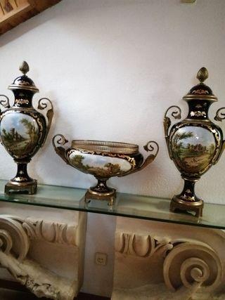 Conjunto de porcelanas estilo Sevres