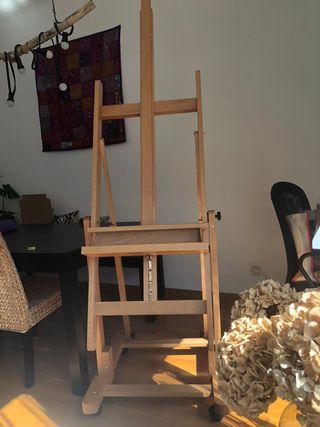 Caballete de pintura prof de estudio con ruedas