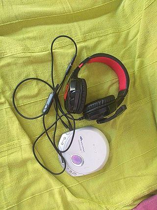 auriculares e walkman
