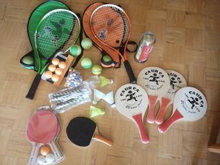 Conjunto raquetas niños